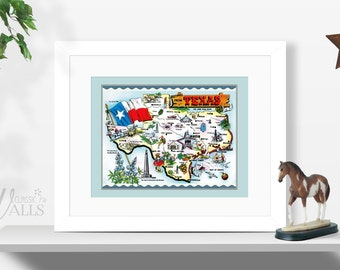 Caricature Map Etsy