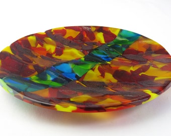 River  Fused Glass Plate