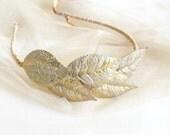 Gold leaf headband ,Bridal Headband Bridesmaid Gift ,Greek ,Goddess ,Boho Chic