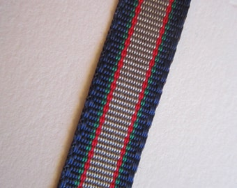 16 yards vintage ribbon - GRAYBLOCK ribbon - 3/8 inch wide - navy, grey, red, and green - acetate chromspun