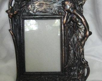 Vintage copper finish Art Nouveau Frame