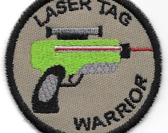 Laser Tag Warrior Geek Merit Badge Patch