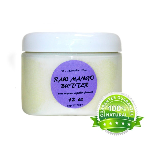 12 OZ Raw Pure Organic Mango Butter