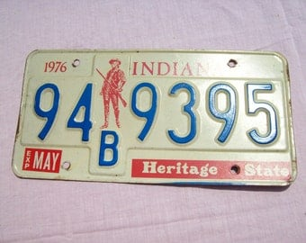 Bicentennial License Plate, Indiana License Plate, 70s License Plate, Patriotic License Plate, Heritage State