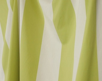 """Cotillion Limeade Green White Striped Fabric 4.5"""" wide"""