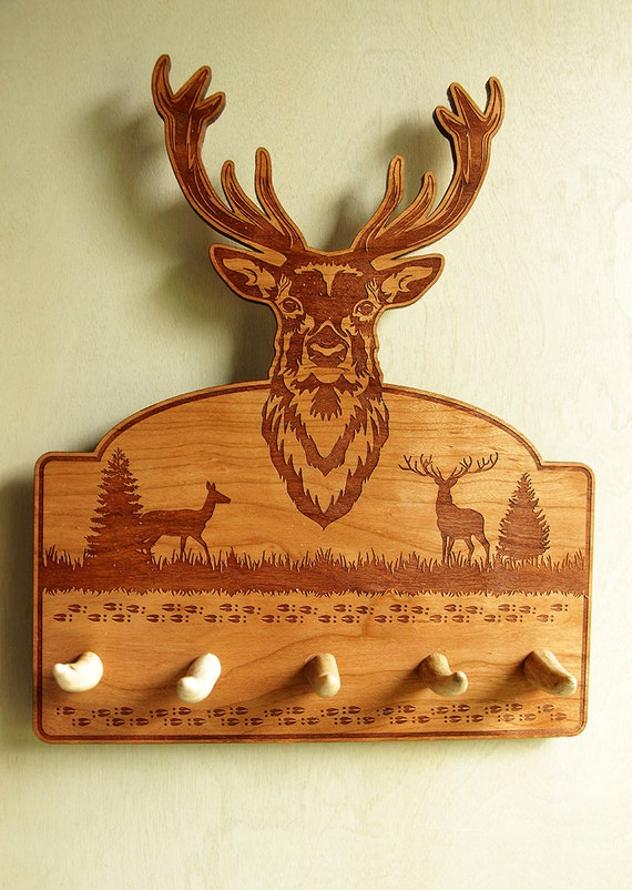 Deer theme key rack key rack deer shaped key rack antler - Antler key rack ...