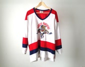 90s vintage FLORIDA PANTHERS miami hockey t-shirt stanley cup 1993 size