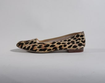 1960s Leopard Print Ballet Flats - Vintage Shoes - Queen Bee Fashions Size 6 7 N