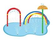 SALE Splash Pad Clip Art, Cute Digital Clipart, Water Park Clip art, Summer Swim Graphics, Illustration, #1692