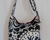 Grey and White, Paisley, IKEA Spring Summer Shoulder Purse, Cross Body BAG, Small Diaper BAG