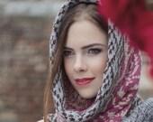 Chunky Cowl, hood, snood, infinity scarf, Baby Alpaca TSARINA - Ada
