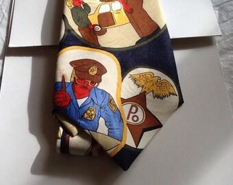 Vintage policeman necktie cravat