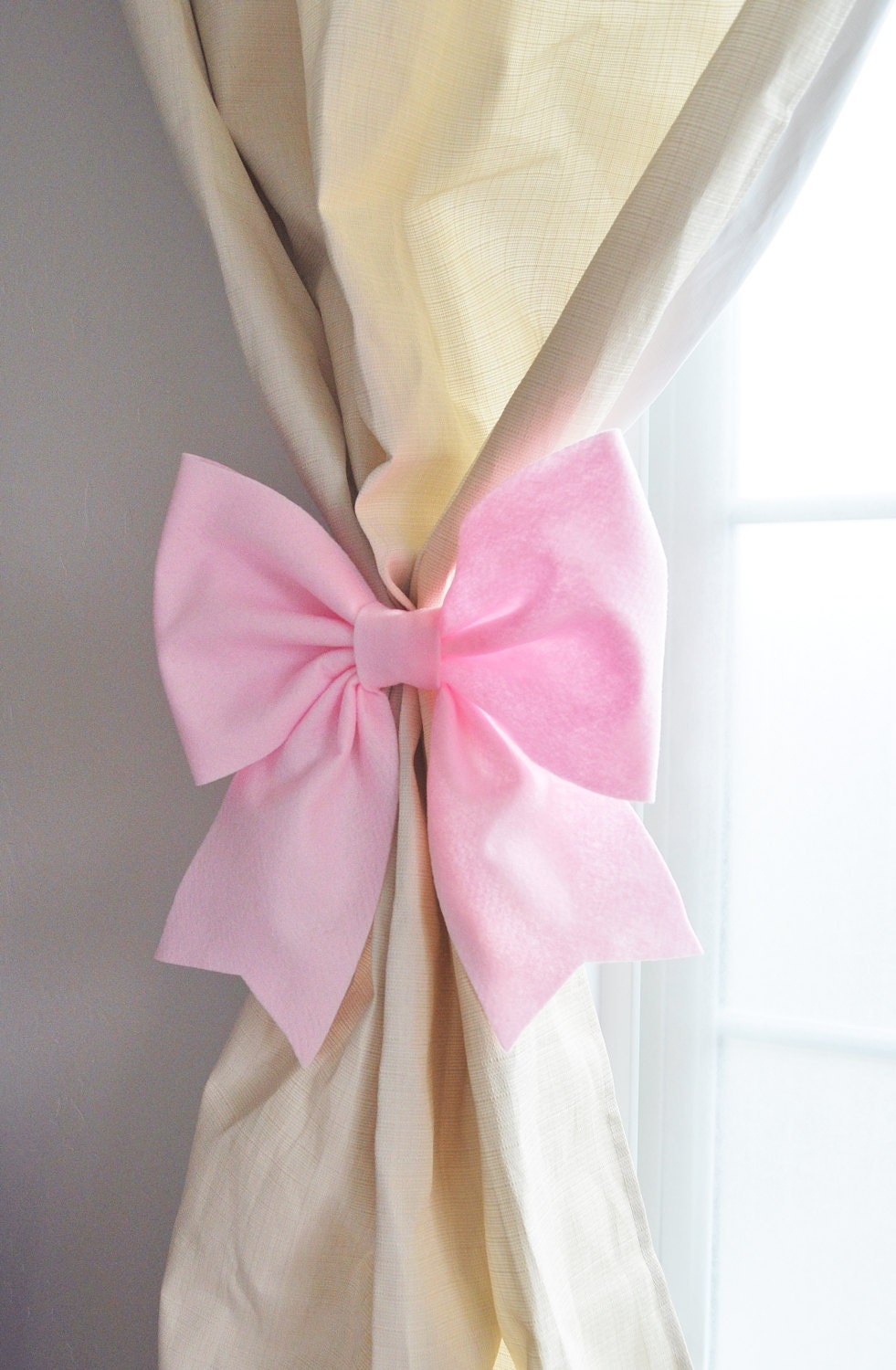Curtain Tie Backs Curtain Holdbacks Light Pink Bow Nursery