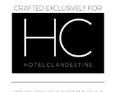 Hotel Clandestine travel set: Lotion, conditioner, and HC original fragrance oil