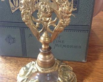 Filigree Gold Gilt Perfume Bottle West Germany