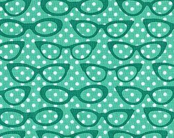 AQUA by Andie Hanna from Fabulous Foxes-1 Yard fabric from robert kaufman