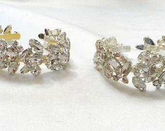 Gold Wedding Cuff, Gold Bridal Cuff, Bridal Cuff Bracelet, Wedding Cuff Bracelet, Wedding Cuff Bracelet, Rhinestone Gold Bracelet