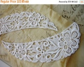 "3DAY SALE 24 pieces 9"" length White Floral venise lace collar in 12 sets for altered your fashion designs"