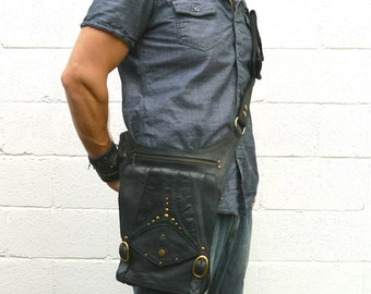 Nebula Leather Tablet Messenger Shoulder Bag