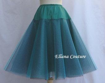 Multi Color Knee Length Crinoline. Little Fullness. Custom Color Combinations Available.