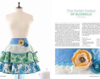 Sweet Songs of Bluebell Apron By Trish Vernazza Featured designer in Home Magazine