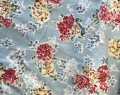 "Cotton Fabric Quilting 1990s 2 Yd. + 28"" L 60"" W Mint Floral Carol Anderson"