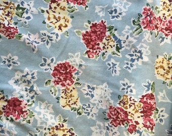"""Cotton Fabric Quilting 1990s 2 Yd. + 28"""" L 60"""" W Mint Floral Carol Anderson"""