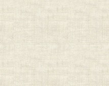 Cream Parchment Linen Look Blender - Vintage Journal from Andover Fabrics - Full or Half Yard Neutral Blender