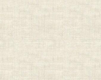 Cream Parchment Linen Look Blender - Vintage Journal from Andover Fabrics - Full or Half Yard Neutral Blender