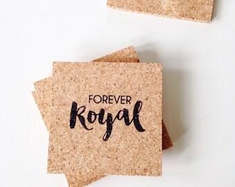Kansas City Royals Coasters - Forever Royal Decor - Fathers Day Gift - KCMO Baseball Decor - KC Royals Coasters