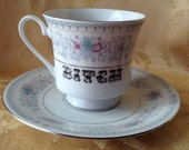 Bitch Sweary Word Tea Cup and Saucer Teatime Set