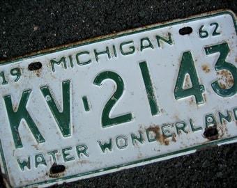 1962 Michigan License Plate