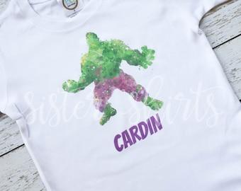 Watercolor Hulk Personalized Children's Tee