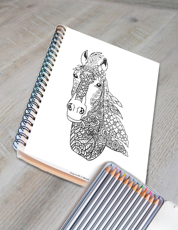 Relax In Color Animal Designs Coloring Book For Adults And Big Kids