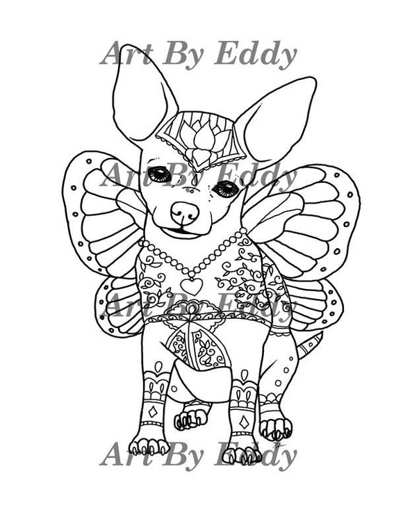 chihuahua coloring pages online - photo#36