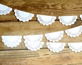 Paper Lace Doily Garland - 10, 12, 15, 20 or 60 feet of 4 inch doilies