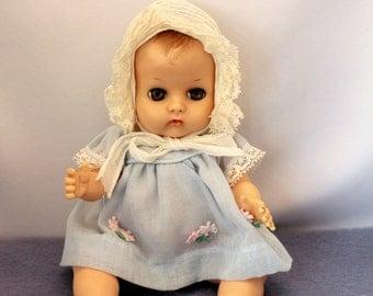 Voque Ginnette Baby Doll 1957 Drink N Wet Sleepy Eyes Original Clothes Non Working Squeaker