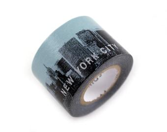 MASTE NYC blue skyline masking tape - new york city skyline and buildings - japanese washi tape
