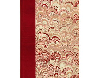Journal Lined Paper Red Tipped Plumes