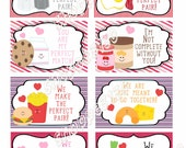 Instant Download Perfect Pair Valentines Cards DIY Printable Cards