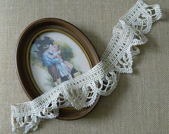 "36"" Round of Beautiful Vintage Ecru Pillowcase Trim #29"