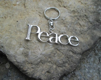 PEACE key chain key fob