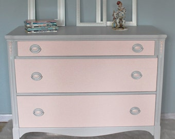 Pink and Gray  Dresser