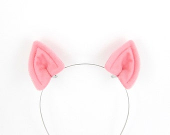 Baby Pig Ears Hair Clips Pink Piggy Plush Costume Ears
