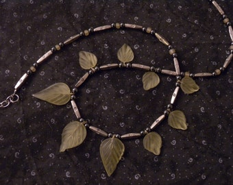 "Tribal ""Amazon Shaman"" Adjustable Leaf Collar Necklace"