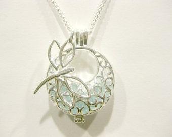 Dragon fly jewelry beach glass jewelry sea glass pendant Sea turtle jewelry