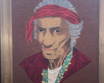 Original Native American Portrait - signed and framed
