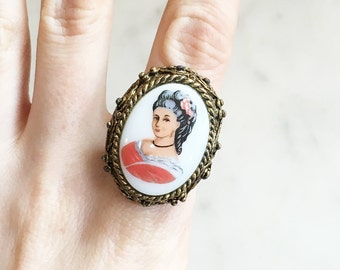 Vintage 60s Cameo Ring Vintage Jewelry