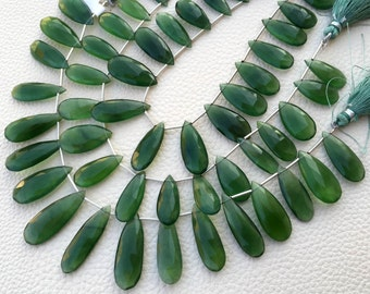 Brand New,1/2 Strand,AAA Natural RUSSIAN SERPENTINE Faceted Elongated Pear Shape Briolettes,20-22mm Long Great Price Rare Item