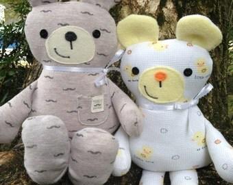 Memory Bear, Baby sleeper bear, Baby bodysuit Bear, Sleeper bear, PJ bear, Pajama Bear, Memorial Teddy Bear, Keepsake Bear, Memory Teddy